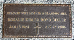 Rosalie <i>Kibler</i> Bixler