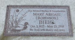 Mary Abigail <i>Robinson</i> Biehl