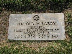 Lieut Harold M Bordy
