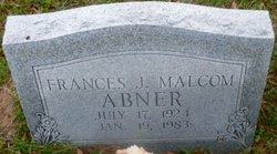 Frances J <i>Malcom</i> Abner