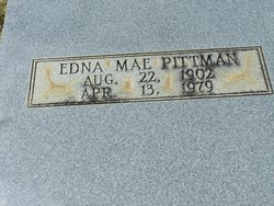 Edna Mae <i>Evitt</i> Pittman