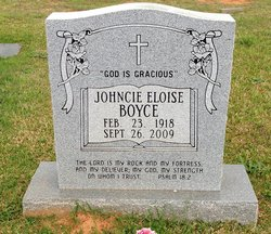 Johncie Eloise Boyce