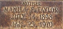 Manila F. <i>Taylor</i> Hancock