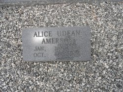 Alice <i>Udean</i> Amerson