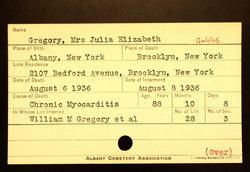 Julia Elizabeth <i>Sigsbee</i> Gregory