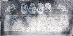 Myrtle Eunice <i>Hall</i> Babb