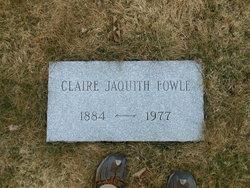 Claire Marie <i>Jaquith</i> Fowle