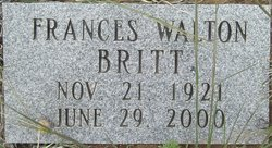 Mrs Frances <i>Walton</i> Britt