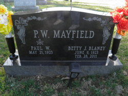 Betty J <i>Blaney</i> Mayfield