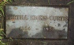 Bertha <i>Hicks</i> Curtis