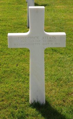 PVT Frederick Allain