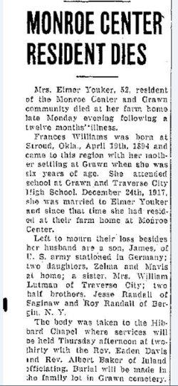 Frances Ida <i>Williams</i> Youker