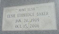 Elsie <i>Ethridge</i> Baker