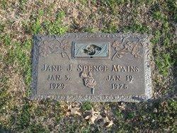 Jane J <i>Spence</i> Mains