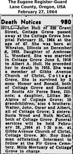 Juliet Ellen <i>Woodard</i> Hull