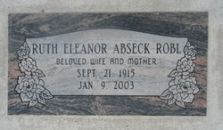 Ruth Eleanor <i>Abseck</i> Robl