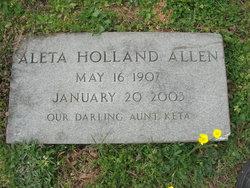 Aleta <i>Holland</i> Allen
