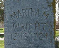 Martha M <i>Henderson</i> Wright