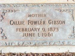 Callie D. <i>Fowler</i> Gibson