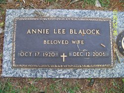 Annie Lee <i>Seagroves</i> Blalock