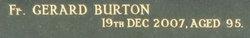 Fr Gerard Burton