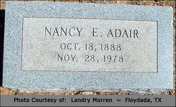Nancy E Nannie <i>Dunn</i> Adair