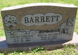 Willie Thurman Barrett