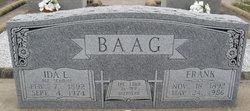 Ida L <i>Schmidt</i> Baag