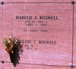 Harold Frank Boswell