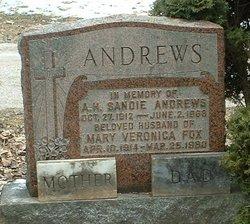 Mary Veronica <i>Fox</i> Andrews