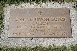 LCpl John Merton Boyce