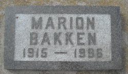 Marion Lucille <i>Rye</i> Bakken