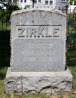 Mrs Amanda M Millie <i>Walker</i> Zirkle