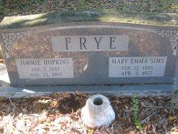 Mary Emma Emma <i>Sims</i> Frye
