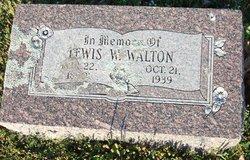 Lewis W Walton