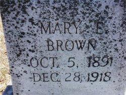 Mary E. <i>Poag</i> Brown
