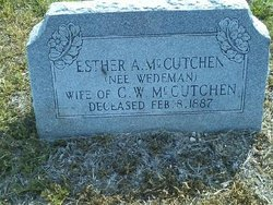 Esther Angelina <i>Wedeman</i> McCutchen
