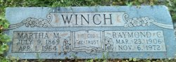 Martha Magdalene Mattie <i>Wright</i> Winch