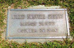 Lillie May <i>Norvell</i> Sheets