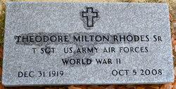 Dr Theodore Milton Doc Rhodes, Sr