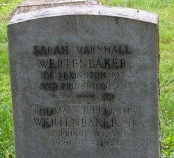 Sarah <i>Marshall</i> Wertenbaker