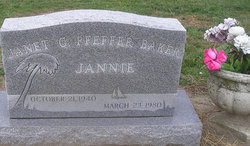 Janet C. Jannie <i>Pfeffer</i> Baker