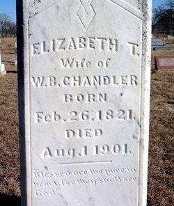 Elizabeth T <i>Peden</i> Chandler