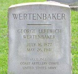Col George Leftwich Wertenbaker