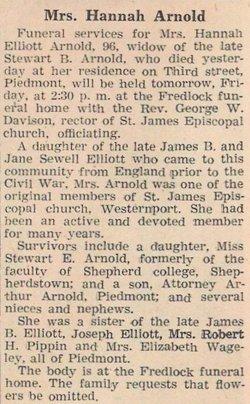 Hannah <i>Elliot</i> Arnold