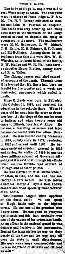 Hugh E Bayle