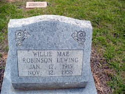 Willie Mae <i>Robinson</i> Lewing