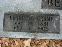 Henrietta <i>Crump</i> Bennett