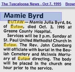 Mamie Julia Byrd