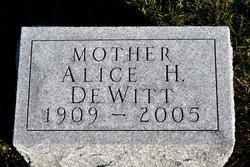 Alice H De Witt